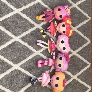 Other - Lalaloopsy soft  dolls- all for $38